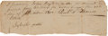 Autographs:Celebrities, Sylvester Pattie Promissory Note Signed....