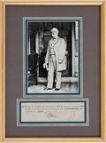 Autographs:Military Figures, Robert E. Lee Document Signed....