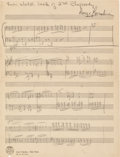 Autographs:Artists, George Gershwin Autograph Musical Manuscript Signed....