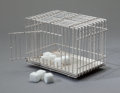 Furniture : French, SOFIE LACHAERT (Belgian, b. 1958) and LUC D'HANIS (Belgian, 20thCentury). Sugar cage, 2006, Droog. Silver. 3-7/8 x 5-1/...