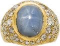 Estate Jewelry:Rings, STAR SAPPHIRE, DIAMOND, GOLD RING. ...