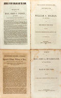 Books:Pamphlets & Tracts, Group of Four Pamphlets Containing Speeches Regarding Secession andthe American Civil War. Various publishers, 1861. All di...