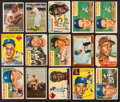 Baseball Cards:Lots, 1950's Topps & Bowman Baseball Stars & HoFers Collection (15). ...