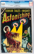 Golden Age (1938-1955):Horror, Astonishing #30 (Atlas, 1954) CGC GD/VG 3.0 Light tan to off-whitepages....