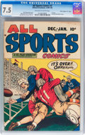 """Golden Age (1938-1955):Miscellaneous, All Sports Comics #2 Davis Crippen (""""D"""" Copy) pedigree (Hillman Publications, 1948) CGC VF- 7.5 Off-white to white pages...."""