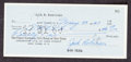 Baseball Collectibles:Others, 1960 Jackie Robinson Signed Check. ...
