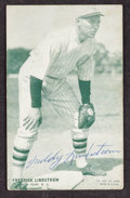 Baseball Cards:Autographs, Signed Fred Lindstrom 1927 Exhibit Card....
