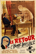 "Movie Posters:Horror, The Invisible Man Returns (Universal, 1947). First Post-War ReleaseFrench Affiche (30.5"" X 45.25"").. ..."