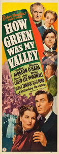 "Movie Posters:Drama, How Green Was My Valley (20th Century Fox, 1941). Insert (14"" X36"").. ..."