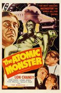 "Movie Posters:Horror, Man Made Monster (Realart R-1953). One Sheet (27"" X 41"").Re-released as The Atomic Monster.. ..."