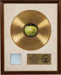 "Music Memorabilia:Awards, The Beatles [""The White Album""] RIAA Gold Record Award(Apple 101, 1968)...."