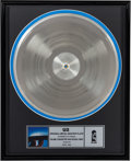 "Music Memorabilia:Awards, U2 Original Metal Master Plate ""Salome / Even Better Than the RealThing"" (Island, 1992)...."