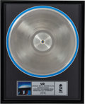 """Music Memorabilia:Awards, U2 Original Metal Master Plate """"Lady With the Spinning Head / Where Did It All Go Wrong?"""" (Island, 1992)...."""