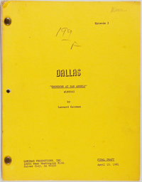 [Production Script]. Dallas. Shooting script for fifth season episode, Showdow