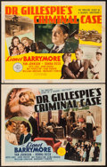 "Movie Posters:Mystery, Dr. Gillespie's Criminal Case (MGM, 1943). Half Sheets (2) (22"" X28"") Styles A & B. Mystery.. ... (Total: 2 Items)"
