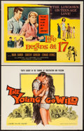 "Movie Posters:Exploitation, The Young Go Wild & Other Lot (Manson Distributing, 1962). HalfSheets (2) (22"" X 28""). Exploitation.. ... (Total: 2 Items)"