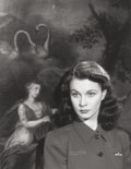Photographs, PAUL TANQUERAY (British, 1905-1991). Vivien Leigh, 1942. Gelatin silver . 8-7/8 x 6-7/8 inches (22.5 x 17.5 cm). Signed ...