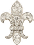 Estate Jewelry:Brooches - Pins, Antique Diamond, Platinum Brooch, Cartier. ...