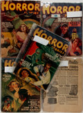 "Books:Pulps, Group of Five Issues of Horror Stories. Various issues1939-1941. 7"" x 9.5"". Original wraps. One volume lacking fron...(Total: 5 Items)"