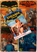 "Books:Pulps, Group of Five Issues of Strange Tales. Various issues1931-1933. January 1932 is a reproduction. 7"" x 9.5"". Original...(Total: 5 Items)"