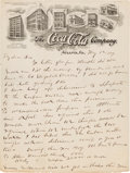 Autographs:Celebrities, Asa G. Candler Autograph Letter Signed on Early Coca-Cola Company Letterhead....