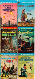 Books:Science Fiction & Fantasy, [Science Fiction]. Group of Six Ace Double Novels. New York: Ace Books, 1960s. Twelvemo. Publisher's pictorial bindings. Ton... (Total: 6 Items)