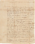 Autographs:Military Figures, [Revolutionary War]. Soldier Andrew McKenzie Letter Signed....