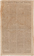 Miscellaneous:Broadside, [XYZ Affair]. Broadside Extra: Treaty between France and America...