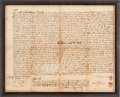 Autographs:Statesmen, [Salem Witch Trials]. Jonathan Corwin Autograph EndorsementSigned....