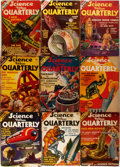 "Books:Pulps, Group of Nine Issues of Science Fiction Quarterly. Numbersone through nine, 1940 to 1942. 6.5"" x 9.5"". Original wra...(Total: 9 Items)"