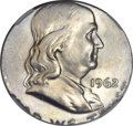 Errors, 1962-D 50C Franklin Half Dollar -- Struck on a Silver QuarterPlanchet -- MS62 NGC....
