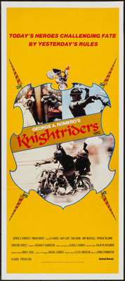 "Knightriders (United Artists, 1981). Australian Daybill (13"" X 29.75""). Action"
