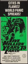 """Movie Posters:Science Fiction, Five Million Years to Earth (20th Century Fox, 1967). AustralianDaybill (12.5"""" X 29.25""""). Science Fiction.. ..."""