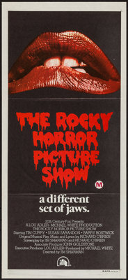 """The Rocky Horror Picture Show (20th Century Fox, 1975). Australian Daybill (13.5"""" X 29.75""""). Rock and Roll..."""