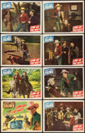 "Movie Posters:Western, Law of the West (Monogram, 1949). Lobby Card Set of 8 (11"" X 14""). Western.. ... (Total: 8 Items)"