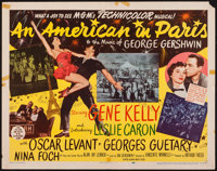 "An American in Paris (MGM, 1951). Half Sheet (22"" X 28"") Style A. Musical"
