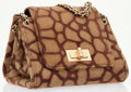 Luxury Accessories:Bags, Chanel Brown Ponyhair Giraffe Print Accordion Bag . ...