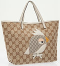 Luxury Accessories:Bags, Gucci Beige Monogram Canvas Girl Zoo Kids Collection Tote Bag. ...