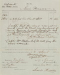 Autographs:Military Figures, [Civil War].Turner Ashby Confederate Abstract Signed....