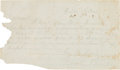 Autographs:Military Figures, [Battle of Perryville]. Braxton Bragg Autograph Note Signed....