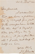 Autographs:Military Figures, Joseph E. Johnston Autograph Letter Signed...