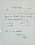 Autographs:Military Figures, [Civil War]. Carter L. Stevenson Autograph Endorsement Signed....