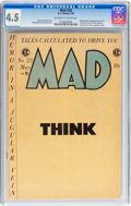 Golden Age (1938-1955):Humor, Mad #23 (EC, 1955) CGC VG+ 4.5 Off-white to white pages....