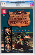 Silver Age (1956-1969):Miscellaneous, Dell Giant Comics: Life Stories of American Presidents #1 File Copy (Dell, 1957) CGC VF+ 8.5 Off-white pages....
