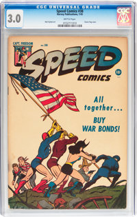 Speed Comics #38 (Harvey, 1945) CGC GD/VG 3.0 Brittle pages