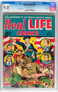 Golden Age (1938-1955):War, Real Life Comics #13 Pennsylvania pedigree (Nedor Publications,1943) CGC VF/NM 9.0 Off-white to white pages....