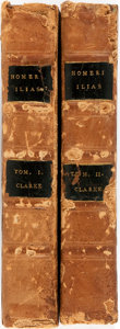 Books:Literature 1900-up, Samuel Clarke. The Iliad of Homer. London: Rivington, 1779.New edition. Greek text, with Latin notes. Dedicated to ... (Total:2 Items)