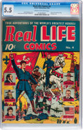 Golden Age (1938-1955):Non-Fiction, Real Life Comics #4 (Nedor Publications, 1942) CGC FN- 5.5 Cream tooff-white pages....