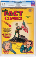 Golden Age (1938-1955):Non-Fiction, Real Fact Comics #6 (DC, 1947) CGC FN 6.0 Off-white pages....