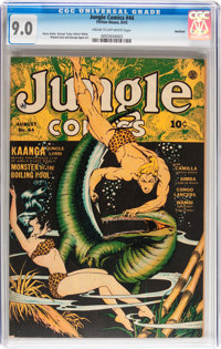 Jungle Comics #44 Rockford pedigree (Fiction House, 1943) CGC VF/NM 9.0 Cream to off-white pages